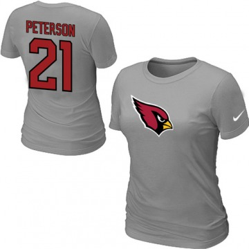Women's Arizona Cardinals Grey Patrick Peterson Name & Number T-Shirt - By Nike