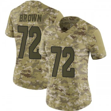 Women's Arizona Cardinals Miles Brown Brown Limited Camo 2018 Salute to Service Jersey By Nike